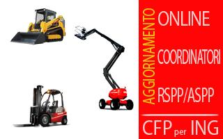 Corso Macchine di cantiere (Aggiornamento Coordinatori-RSPP) con crediti per Ingegneri