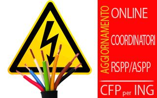 Corso Rischio elettrico (Aggiornamento Coordinatori-RSPP) con crediti per Ingegneri